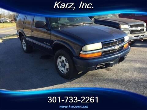 2003 Chevrolet Blazer for sale at Karz INC in Funkstown MD
