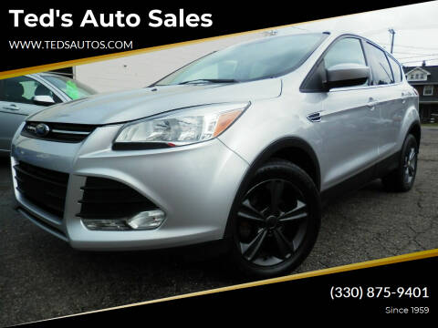 2015 Ford Escape for sale at Ted's Auto Sales in Louisville OH