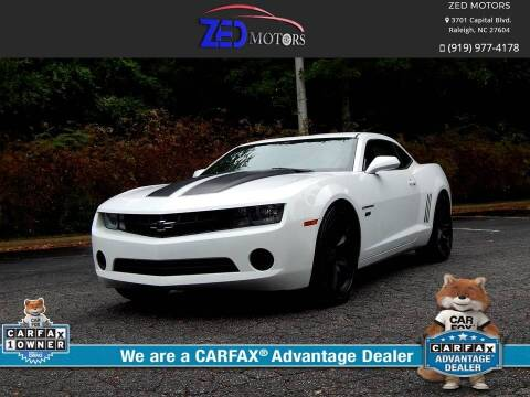 2012 Chevrolet Camaro for sale at Zed Motors in Raleigh NC