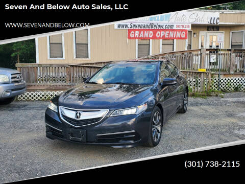 2016 Acura TLX for sale at Seven and Below Auto Sales, LLC in Rockville MD