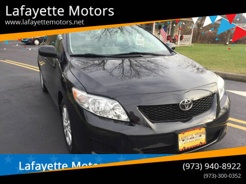 2010 Toyota Corolla for sale at Lafayette Motors 2 in Andover NJ