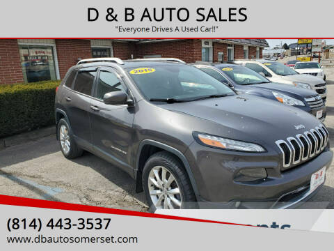 2015 Jeep Cherokee for sale at D & B AUTO SALES in Somerset PA