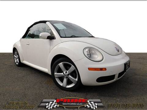 2007 Volkswagen New Beetle Convertible for sale at PRIME MOTORS LLC in Arlington VA