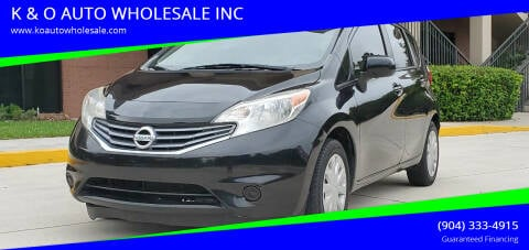 2014 Nissan Versa Note for sale at K & O AUTO WHOLESALE INC in Jacksonville FL