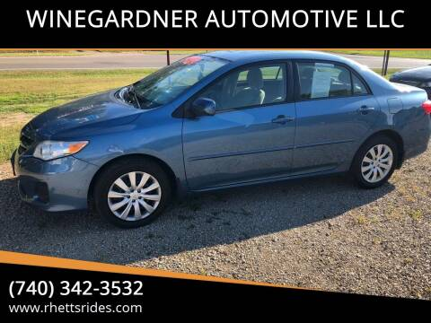 2012 Toyota Corolla for sale at WINEGARDNER AUTOMOTIVE LLC in New Lexington OH