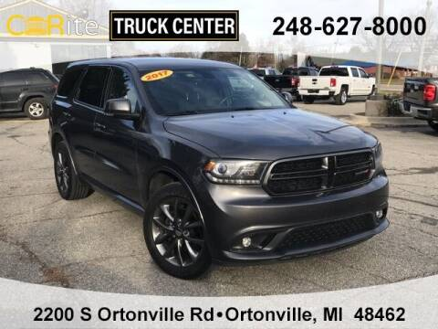 2017 Dodge Durango for sale at Carite Truck Center in Ortonville MI