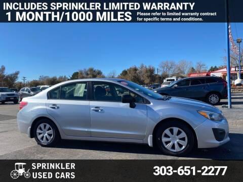 2013 Subaru Impreza for sale at Sprinkler Used Cars in Longmont CO
