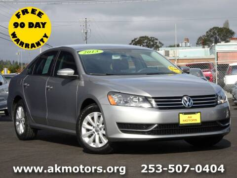 2013 Volkswagen Passat for sale at AK Motors in Tacoma WA