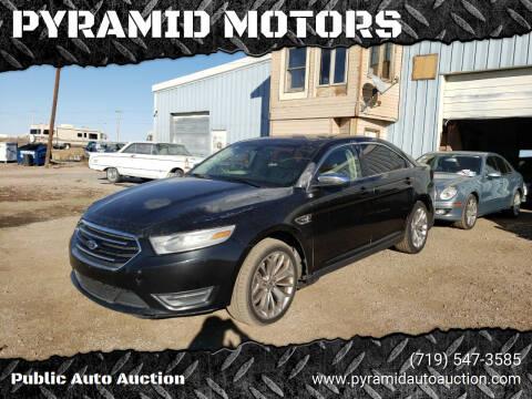 2013 Ford Taurus for sale at PYRAMID MOTORS - Pueblo Lot in Pueblo CO