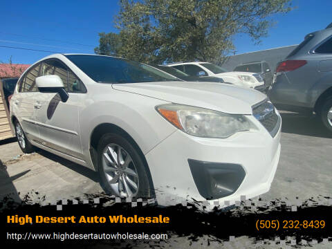 2013 Subaru Impreza for sale at High Desert Auto Wholesale in Albuquerque NM
