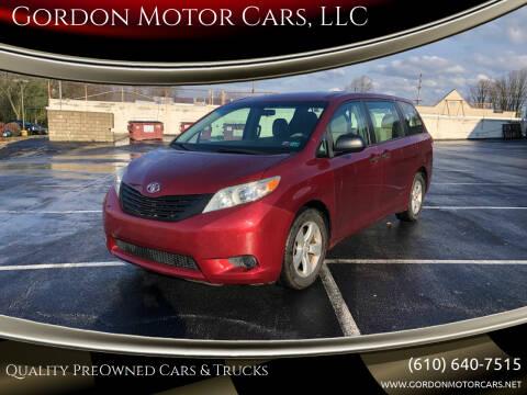 2013 Toyota Sienna for sale at Gordon Motor Cars, LLC in Frazer PA