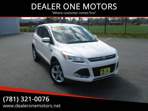 2015 Ford Escape for sale at DEALER ONE MOTORS in Malden MA