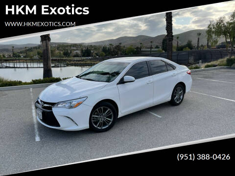 2017 Toyota Camry for sale at HKM Exotics in Corona CA