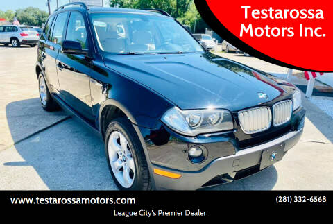 2008 BMW X3 for sale at Testarossa Motors Inc. in League City TX