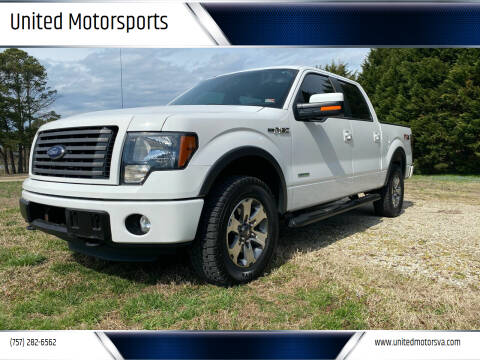 2012 Ford F-150 for sale at United Motorsports in Virginia Beach VA