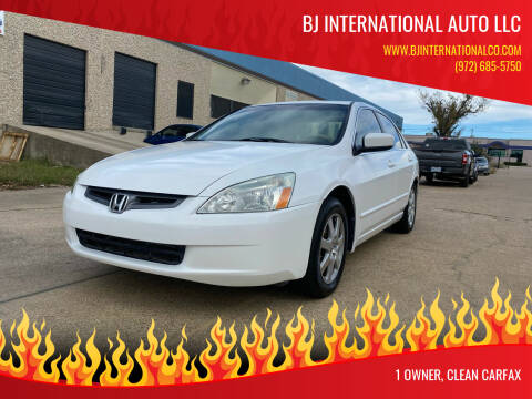 2005 Honda Accord for sale at BJ International Auto LLC in Dallas TX