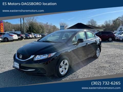 2013 Honda Civic for sale at ES Motors-DAGSBORO location in Dagsboro DE