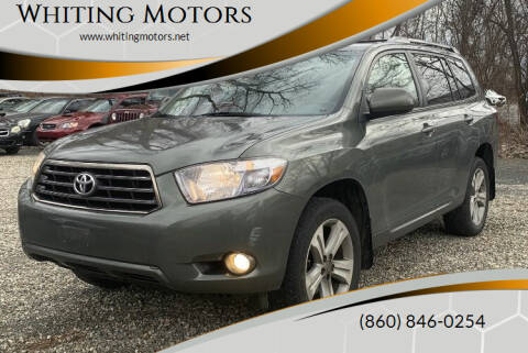 2008 Toyota Highlander for sale at Whiting Motors in Plainville CT