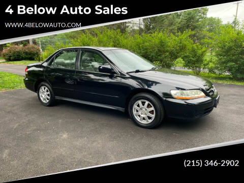 2002 Honda Accord for sale at 4 Below Auto Sales in Willow Grove PA