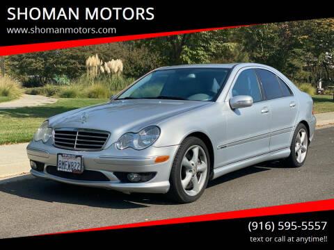 2006 Mercedes-Benz C-Class for sale at SHOMAN MOTORS in Davis CA