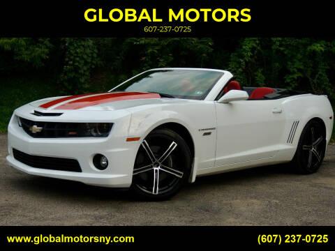 2011 Chevrolet Camaro for sale at GLOBAL MOTORS in Binghamton NY