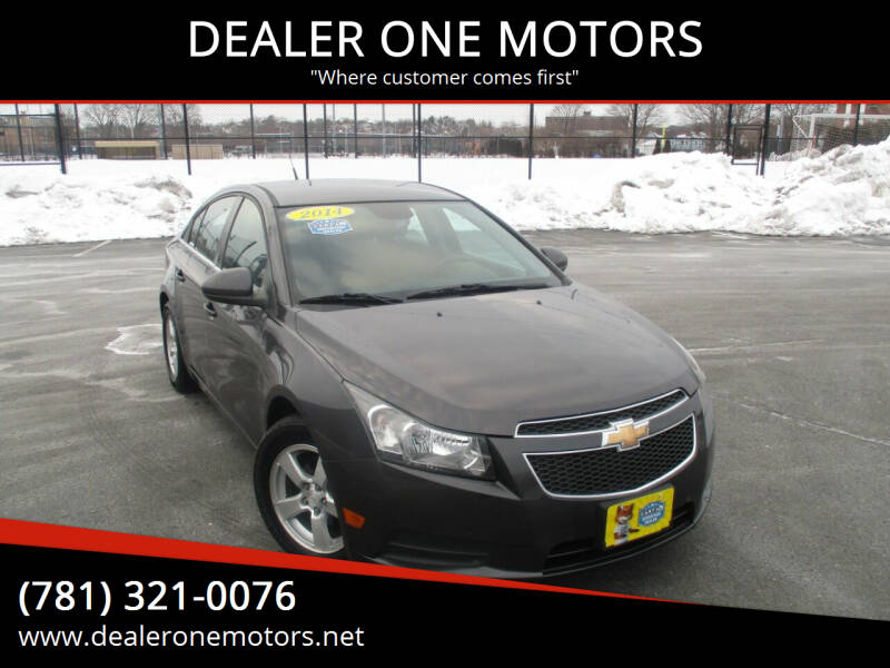 2014 Chevrolet Cruze for sale at DEALER ONE MOTORS in Malden MA