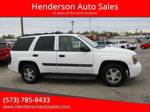 2004 Chevrolet TrailBlazer for sale at Henderson Auto Sales in Poplar Bluff MO