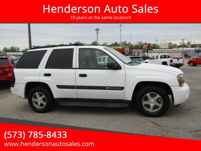 2004 Chevrolet TrailBlazer for sale at Henderson Auto Sales in Poplar Bluff MO