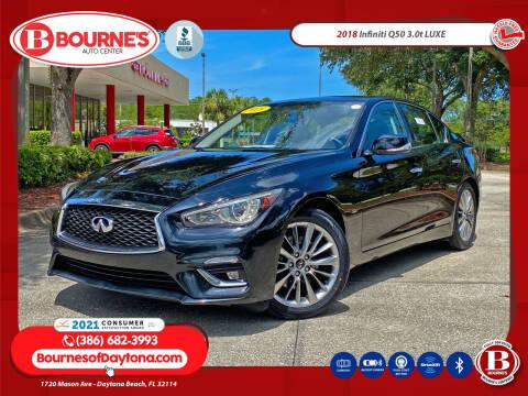 2018 Infiniti Q50 for sale at Bourne's Auto Center in Daytona Beach FL