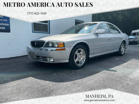 2001 Lincoln LS for sale at METRO AMERICA AUTO SALES of Manheim in Manheim PA