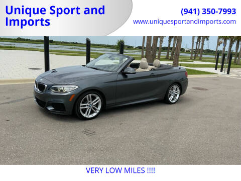2015 BMW 2 Series for sale at Unique Sport and Imports in Sarasota FL
