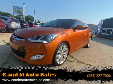 2013 Hyundai Veloster for sale at E and M Auto Sales in Elgin IL