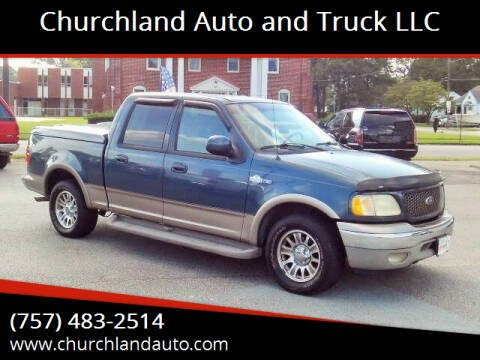 2002 Ford F-150 for sale at Churchland Auto and Truck LLC in Portsmouth VA