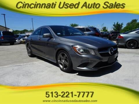 2014 Mercedes-Benz CLA for sale at Cincinnati Used Auto Sales in Cincinnati OH