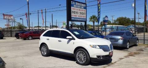 2012 Lincoln MKX for sale at S.A. BROADWAY MOTORS INC in San Antonio TX