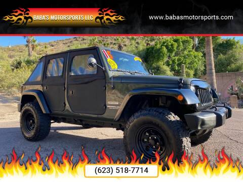 2015 Jeep Wrangler Unlimited for sale at Baba's Motorsports, LLC in Phoenix AZ