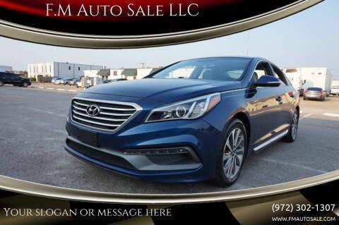 2016 Hyundai Sonata for sale at F.M Auto Sale LLC in Dallas TX