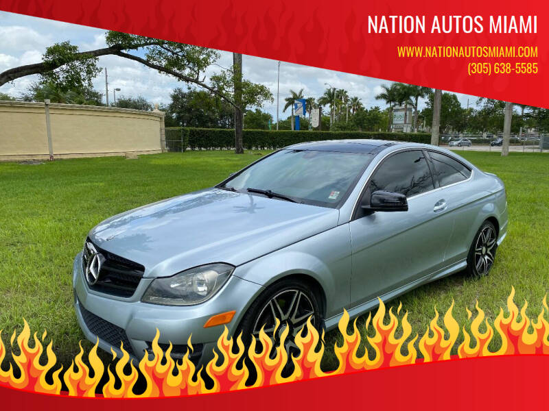 2013 Mercedes-Benz C-Class for sale at Nation Autos Miami in Hialeah FL
