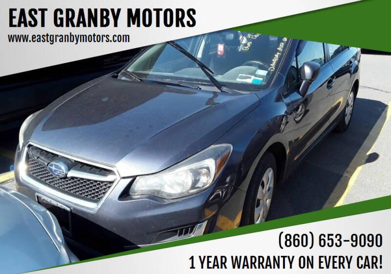 2016 Subaru Impreza for sale at EAST GRANBY MOTORS in East Granby CT