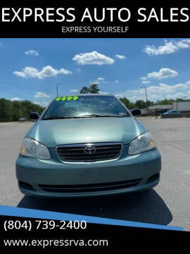 2005 Toyota Corolla for sale at EXPRESS AUTO SALES in Midlothian VA