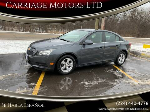 2013 Chevrolet Cruze for sale at Carriage Motors LTD in Ingleside IL
