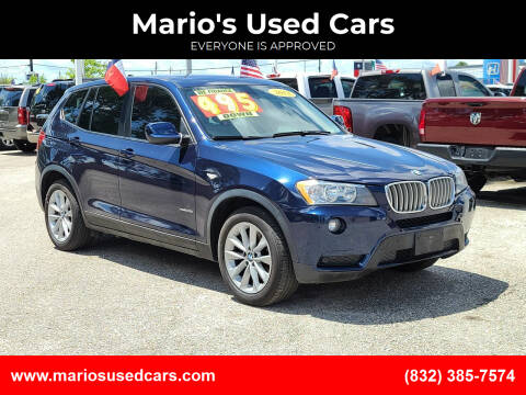 2013 BMW X3 for sale at Mario's Used Cars in Houston TX