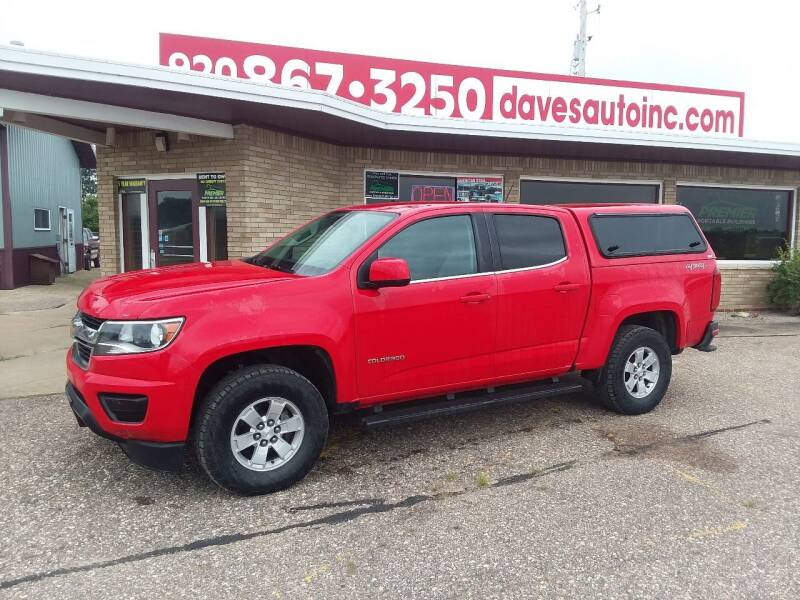 2016 Chevrolet Colorado for sale at Dave's Auto Sales & Service in Weyauwega WI
