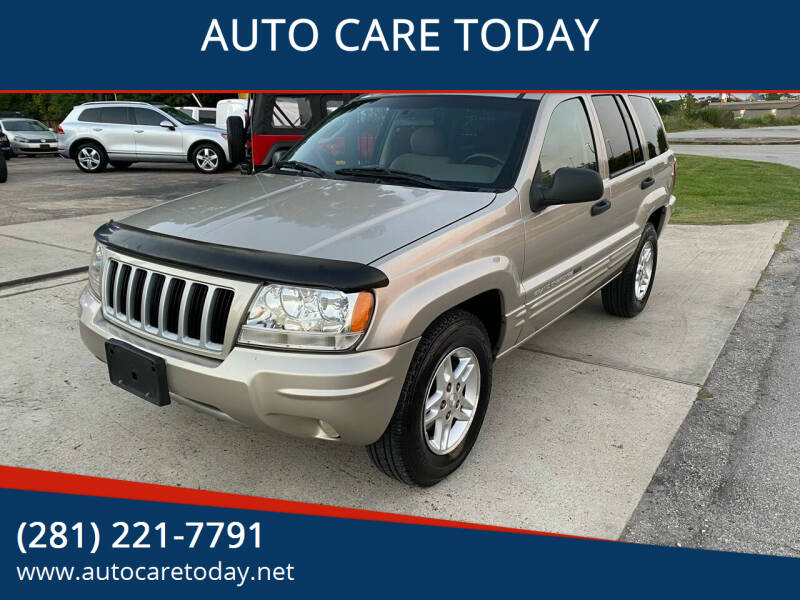 2004 Jeep Grand Cherokee for sale at AUTO CARE TODAY in Spring TX