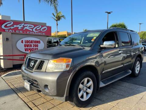 2012 Nissan Armada for sale at CARCO SALES & FINANCE in Chula Vista CA