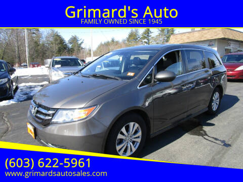 2016 Honda Odyssey for sale at Grimard's Auto in Hooksett, NH