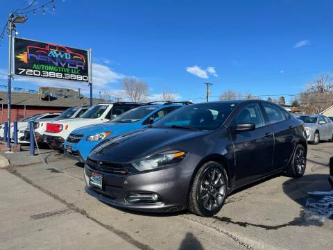 2015 Dodge Dart for sale at AWD Denver Automotive LLC in Englewood CO