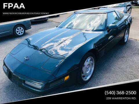1994 Chevrolet Corvette for sale at FPAA in Fredericksburg VA