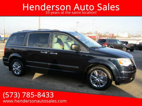2010 Chrysler Town and Country for sale at Henderson Auto Sales in Poplar Bluff MO
