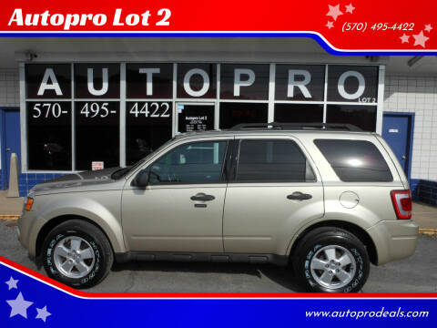 2012 Ford Escape for sale at Autopro Lot 2 in Sunbury PA